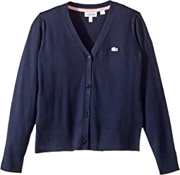 Lacoste Kids - Jersey Cardigan (Toddler/Little Kids/Big Kids)