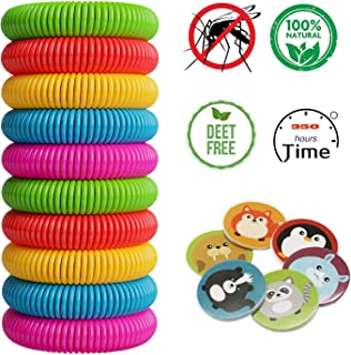NERH Natural Mosquito Insect Repellent Bracelets, Outdoor Indoor Bug Pest Control Wristbands for Babies Toddler Kids 16 Pack