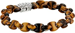 Classic Chain Bead Bracelet with Tiger Eye