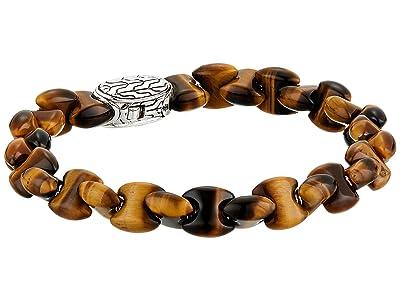 John Hardy Classic Chain Bead Bracelet with Tiger Eye (Silver) Bracelet