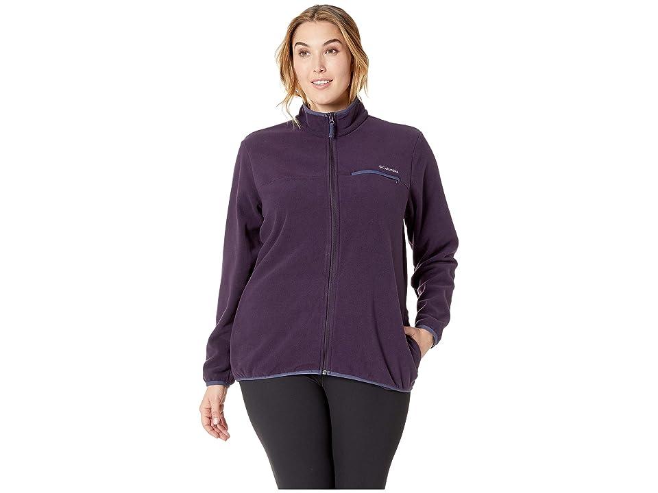 Columbia Plus Size Mountain Crest Full Zip (Dark Plum/Nocturnal) Women