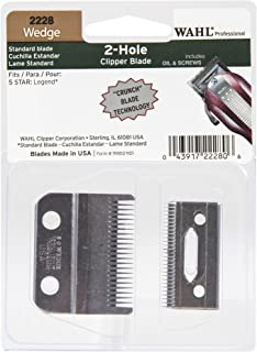 Wahl Professional Wedge 2 Hole Standard Clipper Blade #2228 – Designed for the 5-Star Legend – Includes Oil, Screws, and Instructions.