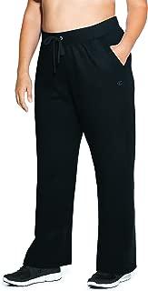 Women's Plus-Size Fleece Open Bottom Pant