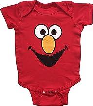 Sesame Street Baby Boys Elmo One Piece Snap Bodysuit (12-18 Months) Red