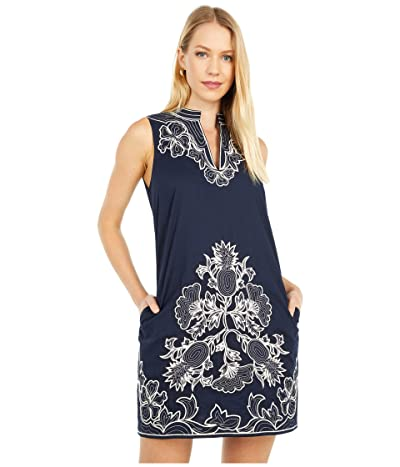 Tory Burch Swimwear Embroidered Sleeveless Tunic (Tory Navy) Women