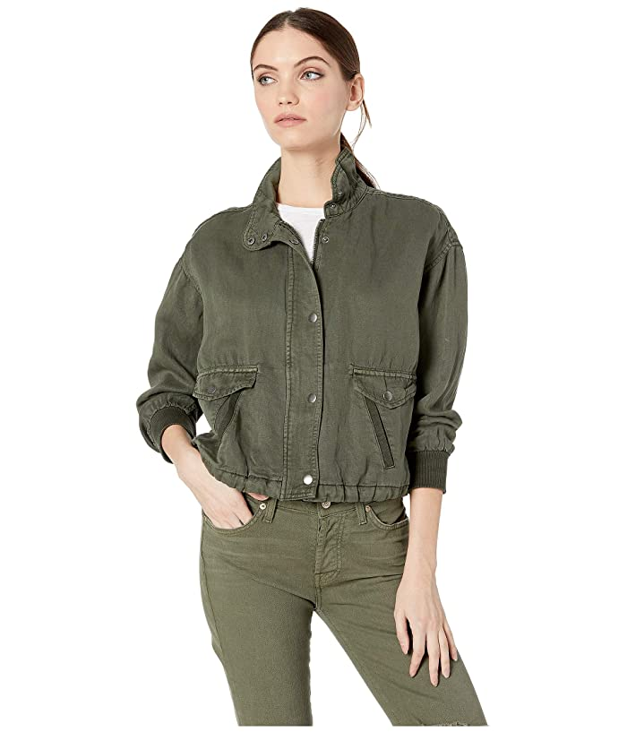 Splendid Cropped Jacket (Vintage Moss) Women