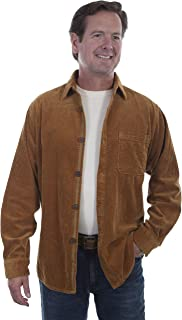 Men's New Wide Wale Cord Western Cozy Comfortable Shirt Jacket Saddle