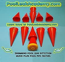Swimming Pool Leak Detection DYE Testing Cones- Quick Plugs Set of 6