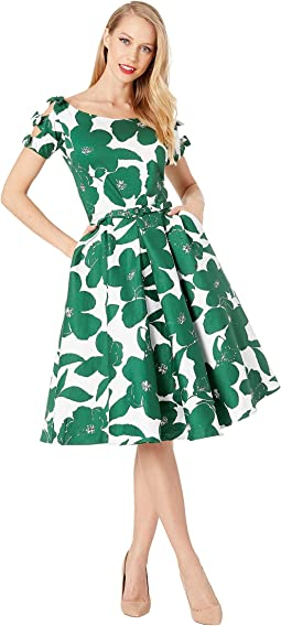 1950s Bow Sleeve Selma Swing Dress
