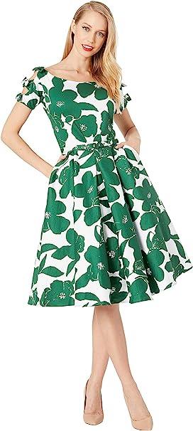 d7dd22387145 1950s Bow Sleeve Selma Swing Dress. 76. Unique Vintage. 1950s Bow Sleeve  Selma Swing Dress