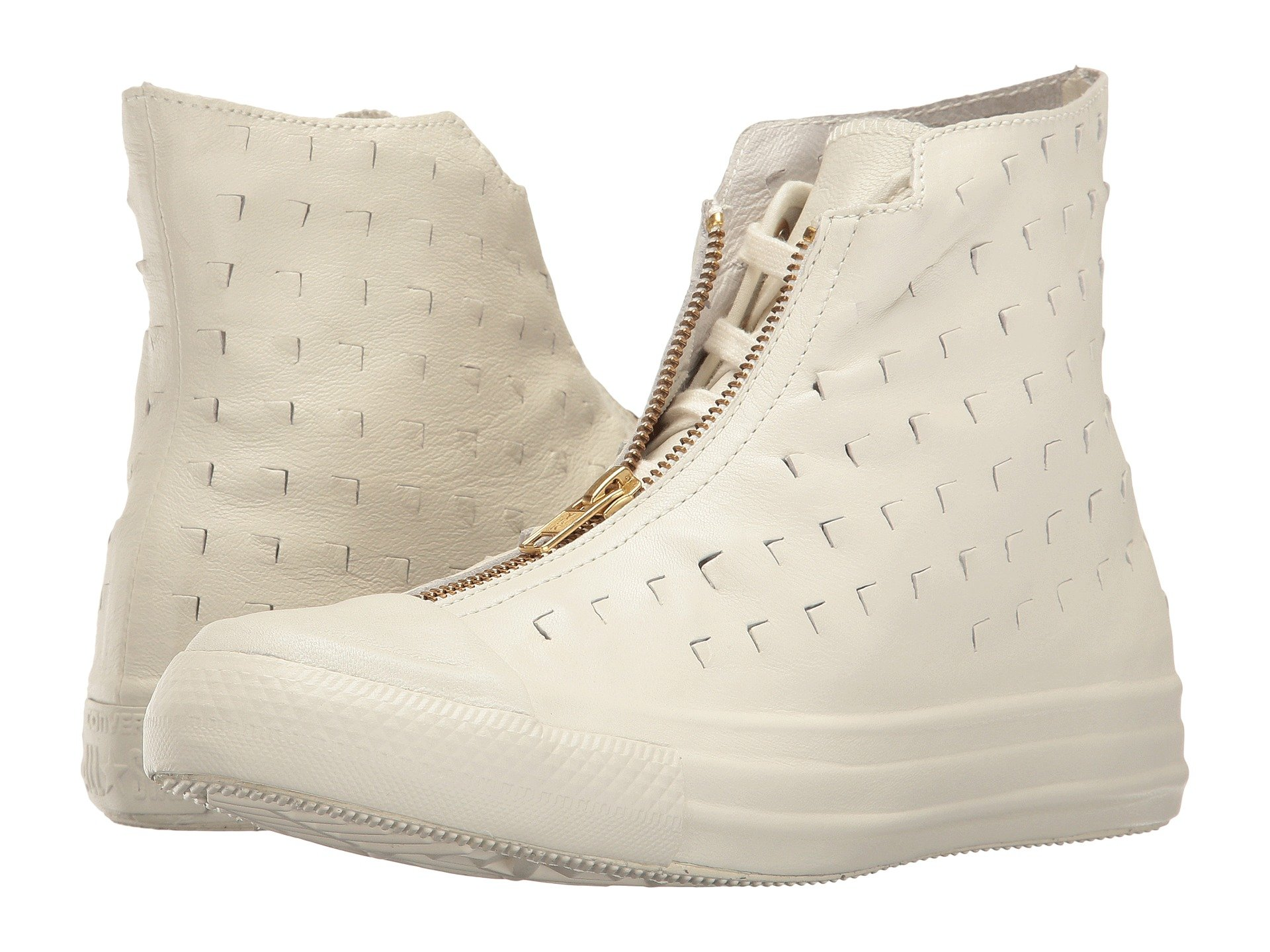 5597636d44d8e0 Converse Chuck Taylor® All Star® Premium Leather Hi Shroud In Egret Egret
