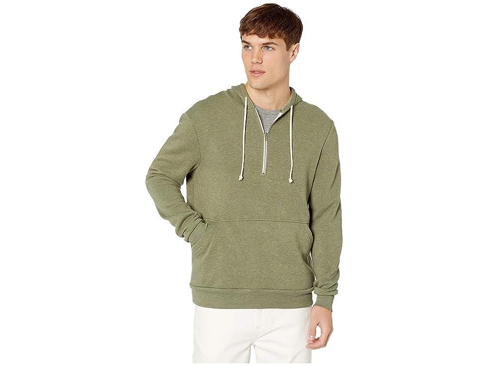 Alternative Jackson 1/2 Zip Hoodie (Eco True Army Green) Men