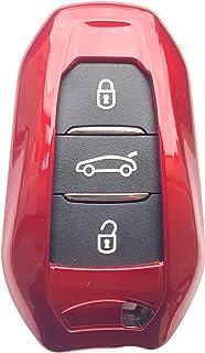 CK+ Peugeot keyless ABS Auto Schlüssel Hülle Key Cover Case Etui für 2008 3008 5008   Rot