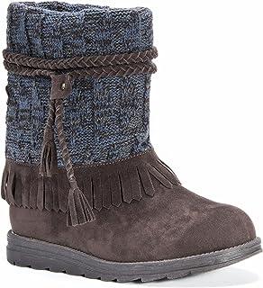 أحذية نسائية من MUK LUKS Rihanna طويلة الرقبة بلون بني غامق، 9