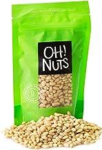 Oh! Nuts Pine Nuts (Pignolias) | 1lb (16oz) Bag of Bulk Fresh Raw Pine Nuts for Baking, Snacking, Salads & Pesto | Keto-Friendly, Vegan, Sugar-Free & Kosher Healthy Nuts | Pignoli Packed with Protein