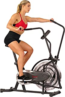 Sunny Health & Fitness Zephyr Air Bike, Fan Exercise Bike with Unlimited Resistance and Device Mount - SF-B2715, Black
