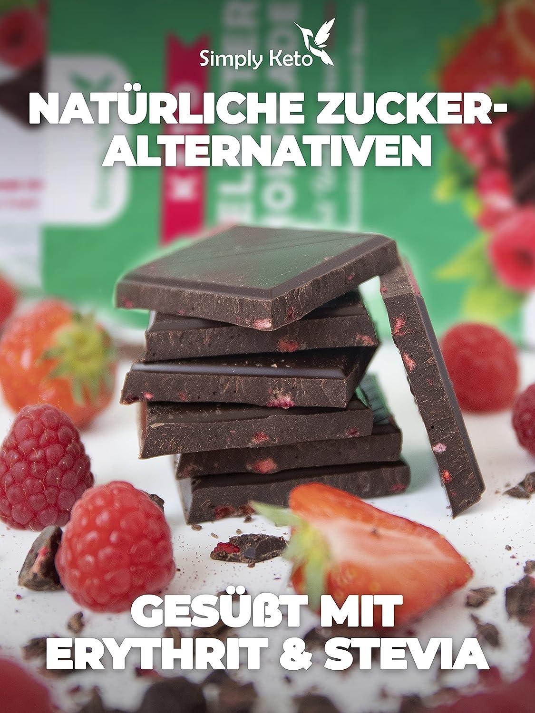 Simply Keto Low Carb Schokolade mit Waldbeeren & 8 Kakao ...