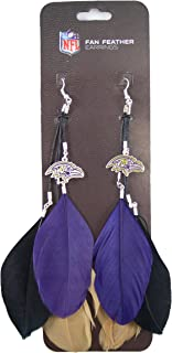NFL Baltimore Ravens Feather Earrings