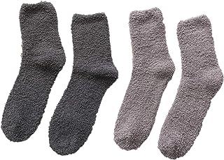 QQSA, Mens Winter Warm Thick Fluffy Fleece Socks Fuzzy Socks for Men Youth Winter Warm Fluffy Fleece Slipper Socks Thick Cozy Plush Socks
