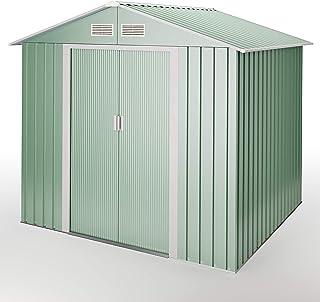 wasabi - Light Green Cobertizo de Metal Jardin Verde 4,2 m2