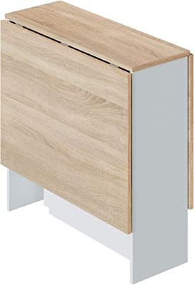 Loungitude Table auxiliaire, Mélamine, L31/140 x H78 x P77cm