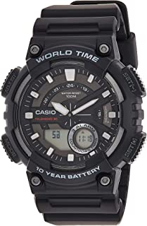 Casio Men's Black Dial Resin Analog-Digital Watch - AEQ-110W-1AVDF