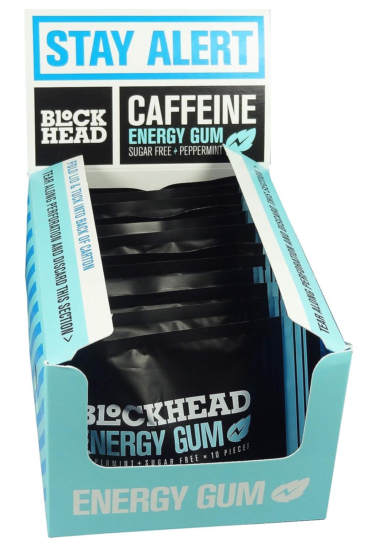 Blockhead Sugar Free Energy Gum Cheap SALE Start Fees free!! - Peppermint Gums 10 Flavour