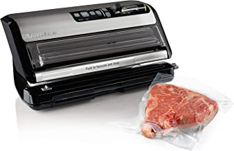 FoodSaver FM5200 2-in-1 Automatic Vacuum Sealer Machine with Express Bag Maker | Safety Certified | Silver (Renewed)