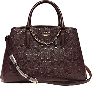 Coach Small Margot Carryall In Signature Debossed Leather