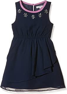 French Connection Girls' Kids Embellished Neck Dress