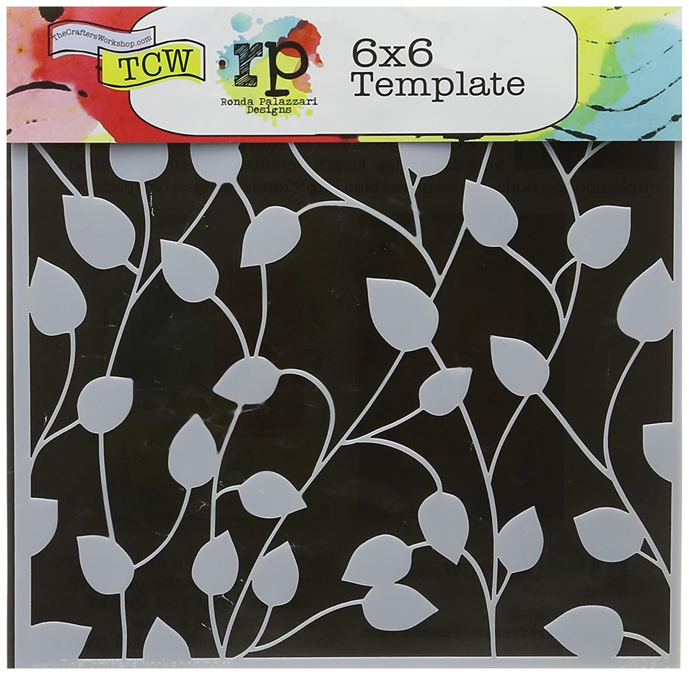 CRAFTERS WORKSHOP TCW6X6-391 Template, 6 by 6-Inch, Climbing Vine