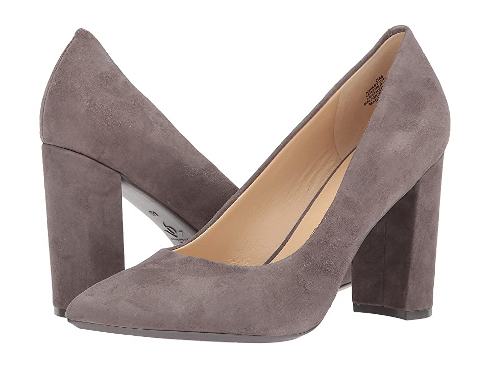 Nine West Astoria Block Heel Pump (Dark Drey Suede) High Heels