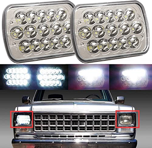high quality 7X6 popular Inch LED Sealed Beam Headlights for GMC Savana 1500 2500 3500 Truck Hi/Lo Beam with online H4 Plug H6014 H6052 H6054 6054 6012 6014 6015 H6017 H6024, 2 Year Warranty outlet online sale