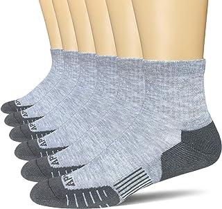 APTYID Men's Ankle Quarter Performance Athletic Cushion Running Socks (6 Pack)