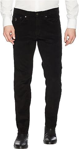 Slim Straight Corduroy Pants