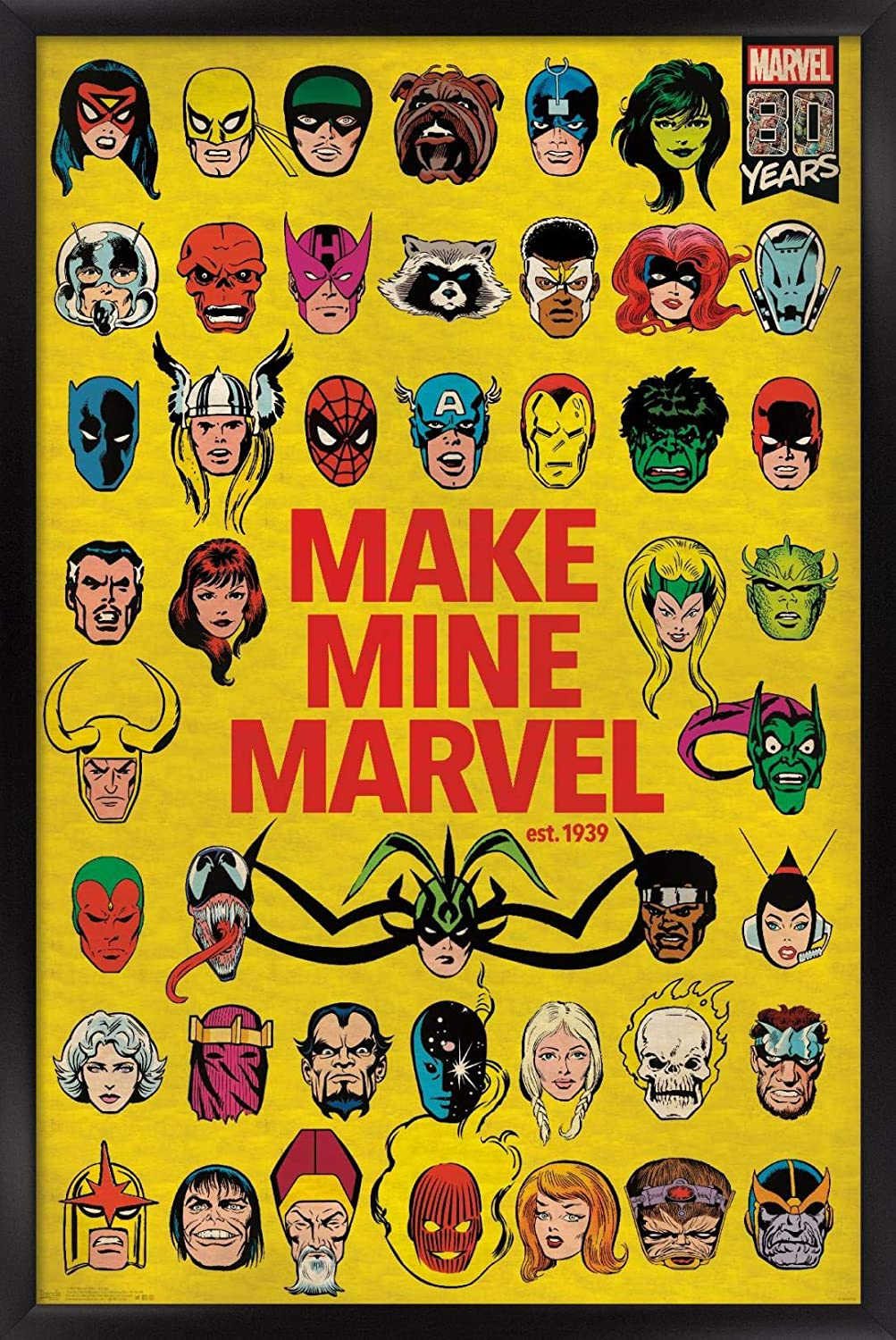 Trends International Comics-Marvel 80th Wall P All items free shipping Anniversary-Group Oakland Mall