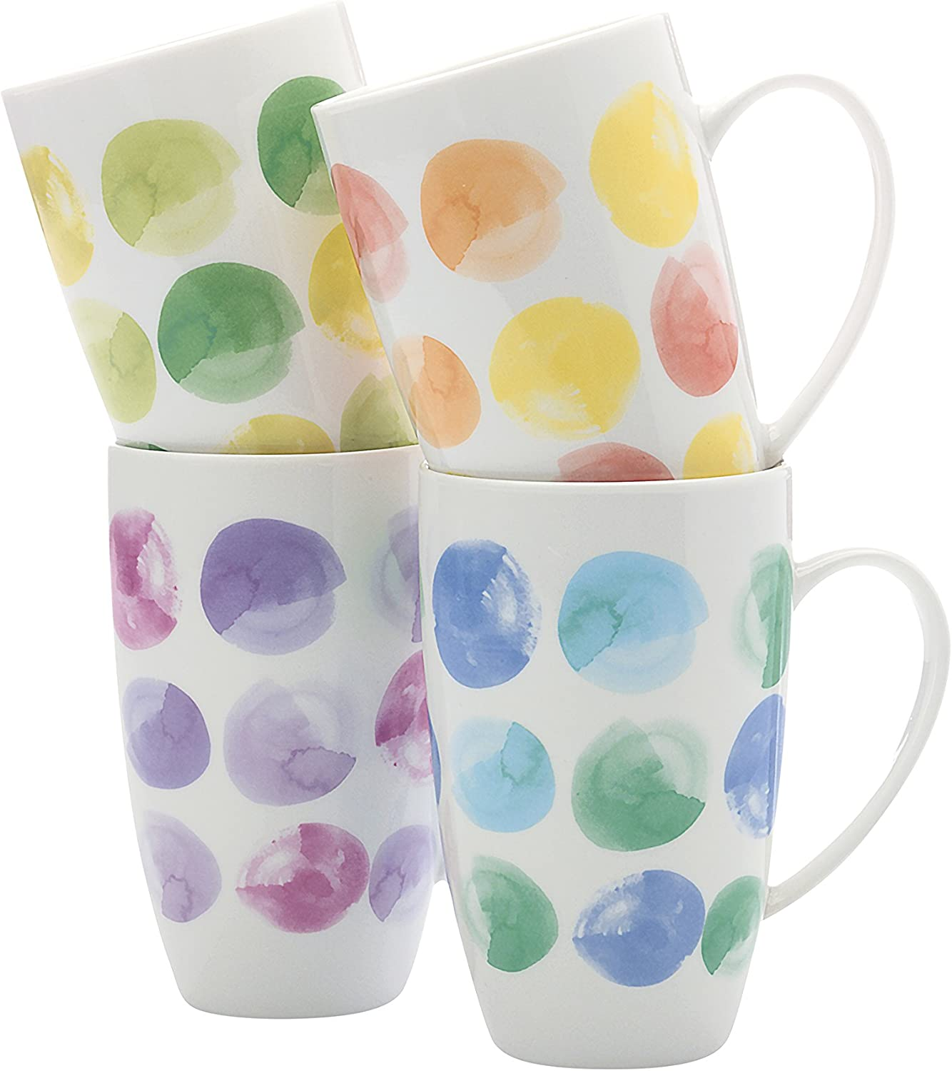 Fitz and Floyd Colour Milwaukee Mall Drops Mug Set 4 of Limited price sale