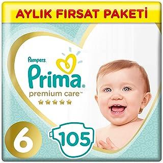 Prima Bebek Bezi Premium Care, 6 Beden, 105 Adet, X-Large Aylık Fırsat Paketi