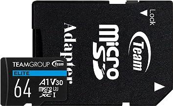 TEAMGROUP Elite A1 64GB microSDXC UHS-I U3 V30 A1 High...
