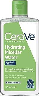 CeraVe Micellar 卸妝液/保濕面部潔面乳和卸妝液,帶透明質酸,可去除粉底妝,防水睫毛膏,污垢和油,283.50 毫升
