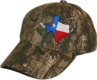 Texas State Flag Hat Cap Flexfit Realtree AP camo