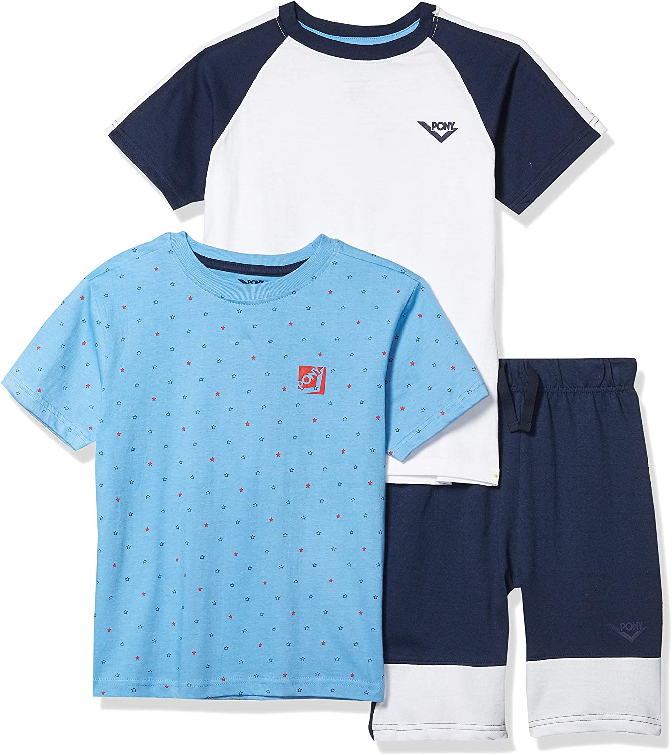 Pony boys 3 Max 65% OFF 2021 spring and summer new Piece Active Short Set