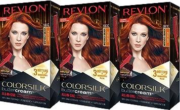 Revlon Colorsilk Buttercream Hair Dye, Vivid Intense Copper, Pack of 3