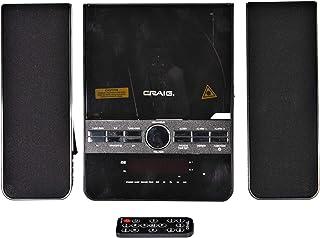 Craig CM427BT-BK 3-Piece Vertical CD Stereo Shelf System with AM/FM Radio, Bluetooth Wireless Technology & Remote Control ...