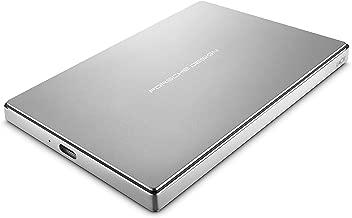 LaCie Porsche Design 2TB USB-C Mobile Hard Drive, Silver (STFD2000402)