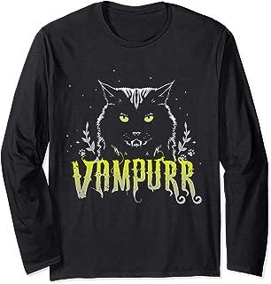 Vampurr Vampire Kitty Cat Halloween costume Long Sleeve T-Shirt