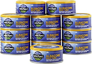 Wild Planet Albacore Wild Tuna, Sea Salt, Keto and Paleo, 3rd Party Mercury Tested, 5 Ounce ,12 Count (Pack of 1)