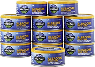 Wild Planet Albacore Wild Tuna, Sea Salt, Keto and Paleo, 3rd Party Mercury Tested, 5 Ounce