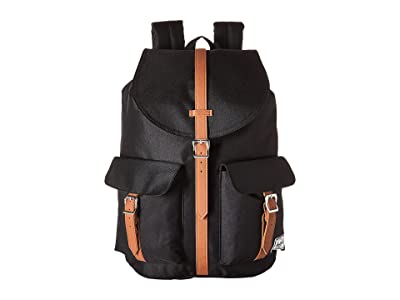 Herschel Supply Co. Dawson (Black/Tan Synthetic Leather) Bags