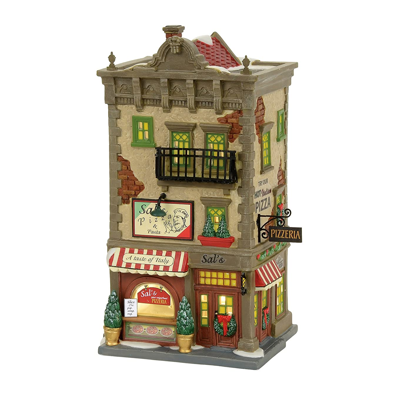 Department 56 Christmas in The City Sal's Pizza and Pasta Village Lit Building, Multicolor